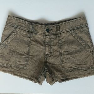 Free People Slub Sateen Cargo Short Size 6